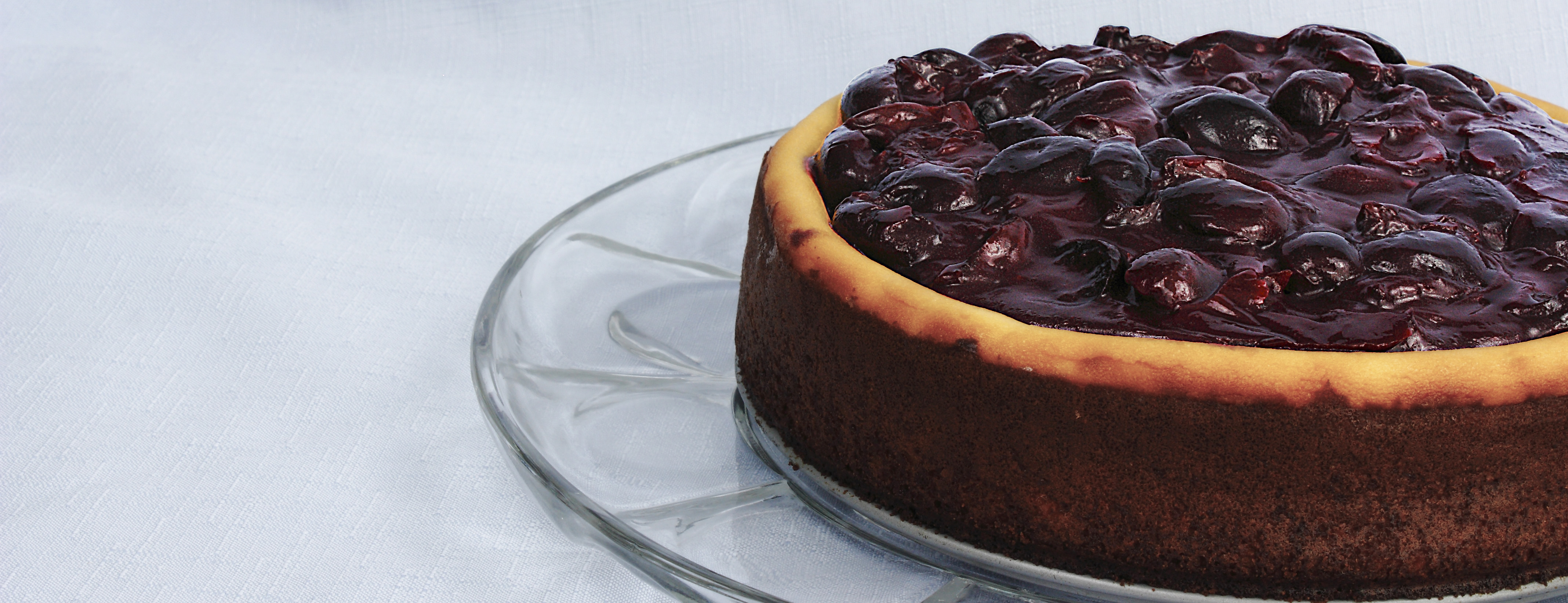 Fresh Dark Cherry Chocolate Chip Cheesecake
