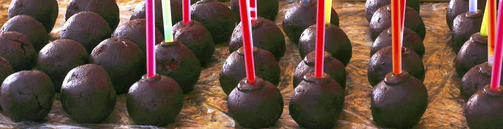 Birthday Brownie Cake Pops on Glo Sticks
