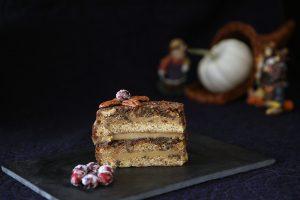 Pecan Pie Cake Slice