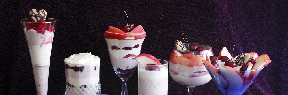 Cheesecake Custard Parfait with Fresh Fruit