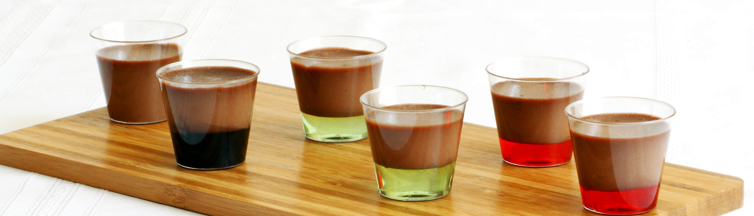 Chocolate Panna Cotta Shooters