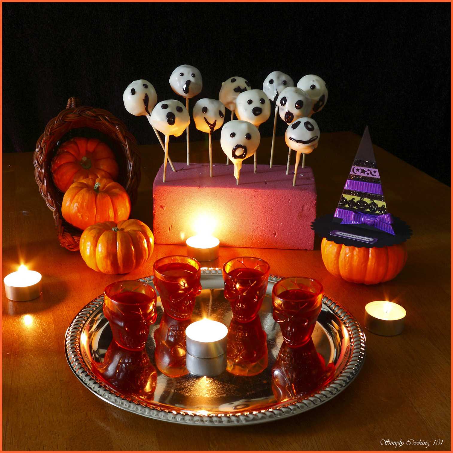 Halloween Cake Pops – Ghosts and Witches Hats