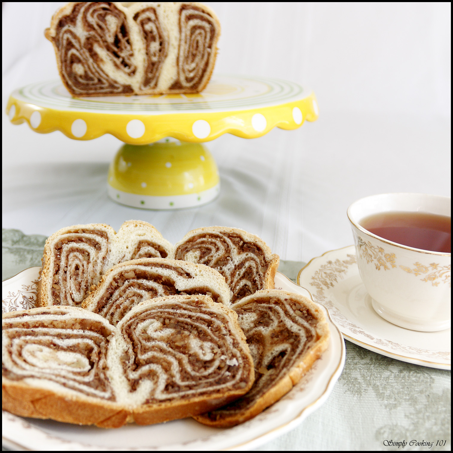 The Daring Bakers' Challenge:  Povitica (really great nut swirl sweet bread)